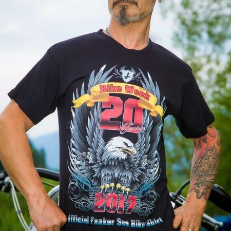 t shirt schwarz official faaker see biker shirt 2017