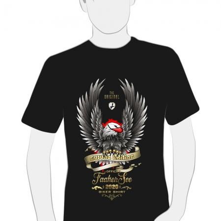 herren t-shirt schwarz faaker see biker shirt 2020