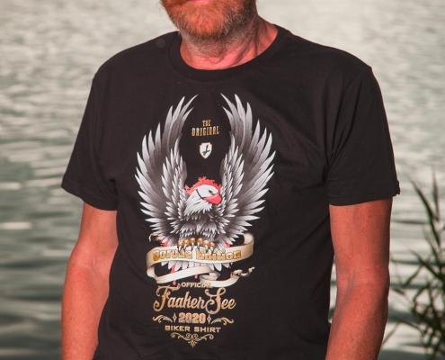 t-shirt schwarz herren faaker see biker shirt 2020