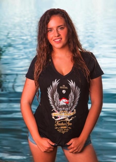 v neck schwarz damen faaker see biker shirt 2020